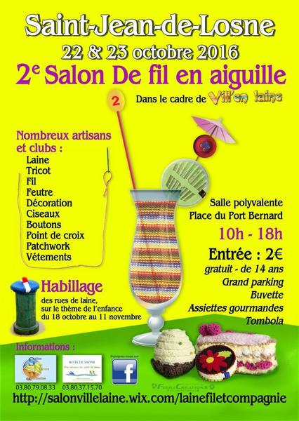 2e salon de fil en aiguille vill 39 en laine annonc sur l for Salon du fil et de l aiguille